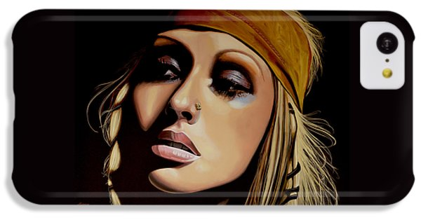 Rhythm And Blues iPhone 5c Case -  Christina Aguilera Painting by Paul Meijering