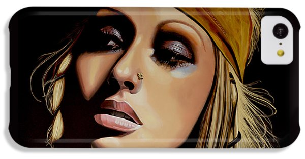 Christina Aguilera Painting IPhone 5c Case by Paul Meijering