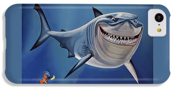 Sharks iPhone 5c Case - Finding Nemo Painting by Paul Meijering