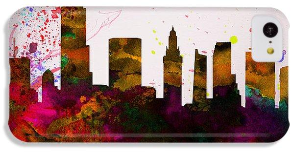 Miami iPhone 5c Case -  Miami City Skyline by Naxart Studio