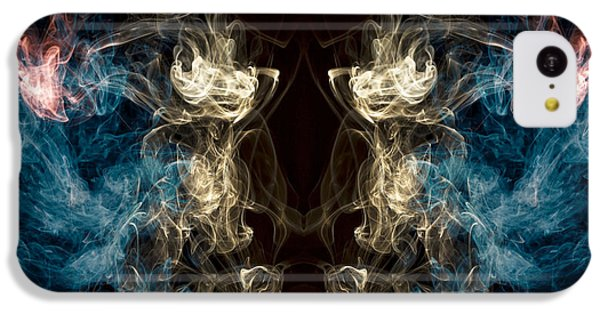 Minotaur iPhone 5c Case -  Minotaur Smoke Abstract by Edward Fielding