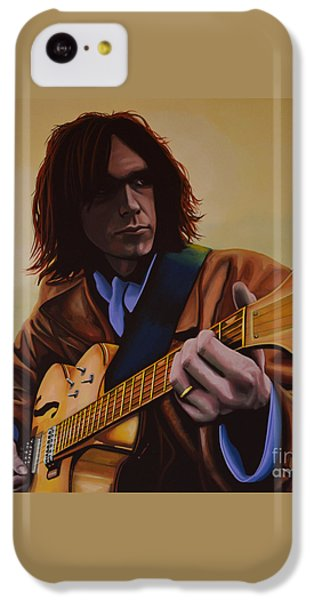 Neil Young Painting IPhone 5c Case by Paul Meijering
