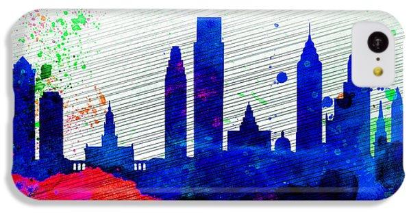 Philadelphia City Skyline IPhone 5c Case by Naxart Studio