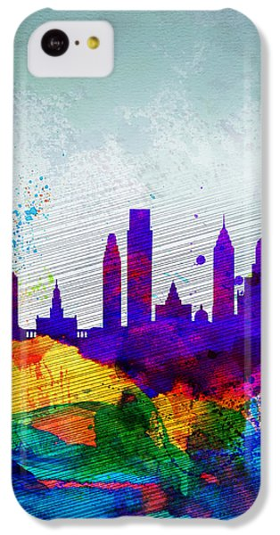 Philadelphia Watercolor Skyline IPhone 5c Case by Naxart Studio