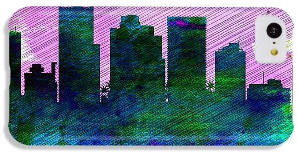 Phoenix City Skyline IPhone 5c Case by Naxart Studio