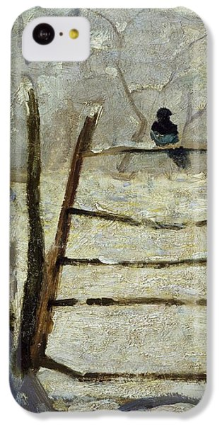 Magpies iPhone 5c Case -  The Magpie by Claude Monet