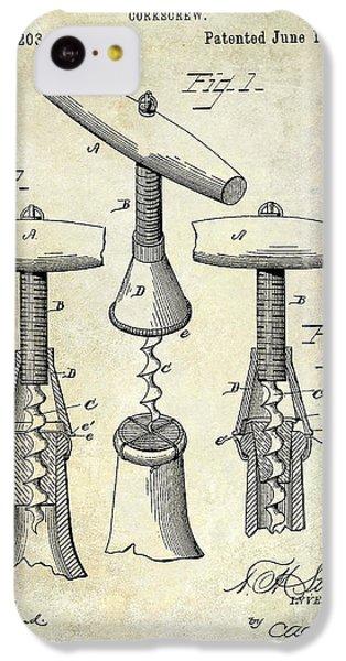 1883 Corkscrew Patent Drawing IPhone 5c Case