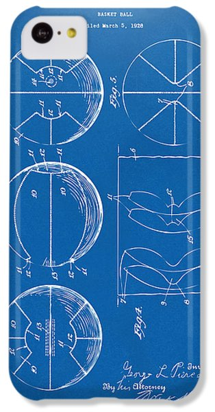 1929 Basketball Patent Artwork - Blueprint IPhone 5c Case by Nikki Marie Smith