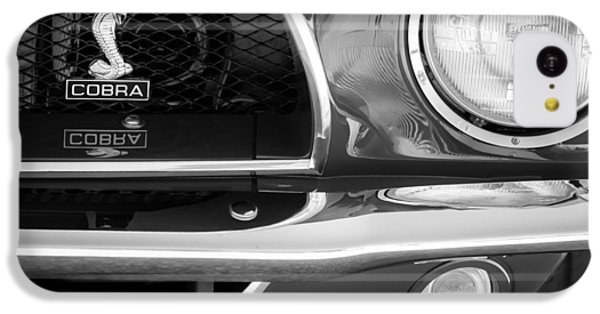 1968 Ford Mustang Fastback 427 Ci Cobra Grille Emblem IPhone 5c Case by Jill Reger