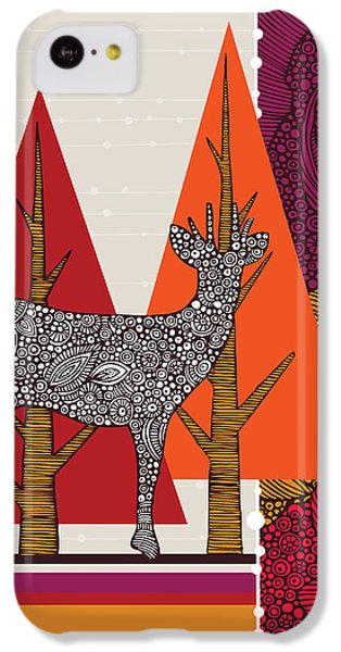 Deer iPhone 5c Case - A Deer In Woodland by Valentina Ramos