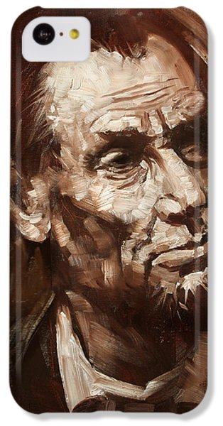 Abraham Lincoln IPhone 5c Case by Ylli Haruni
