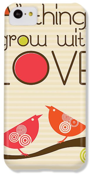 Valentines Day iPhone 5c Case - All Things Grow With Love by Valentina Ramos