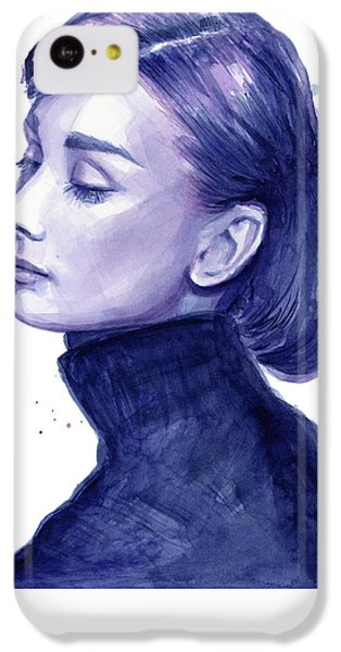 Audrey Hepburn Portrait IPhone 5c Case by Olga Shvartsur