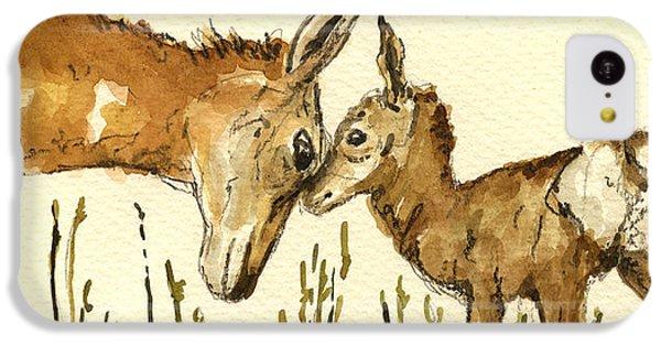 Deer iPhone 5c Case - Bambi Deer by Juan  Bosco