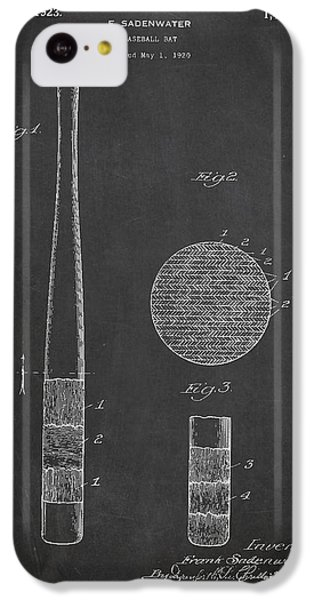 Baseball Bat Patent Drawing From 1920 IPhone 5c Case by Aged Pixel