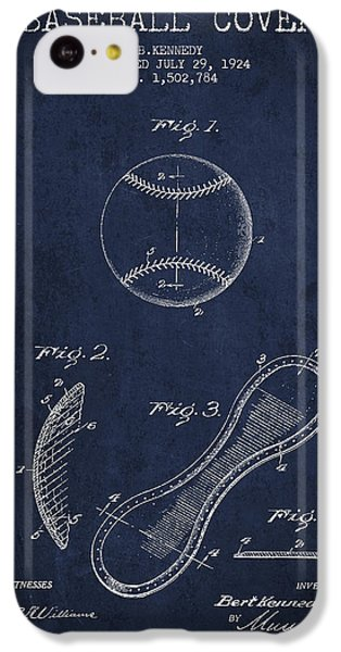 Baseball Cover Patent Drawing From 1924 IPhone 5c Case by Aged Pixel
