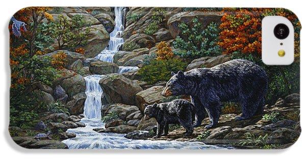 Woodpecker iPhone 5c Case - Black Bear Falls by Crista Forest