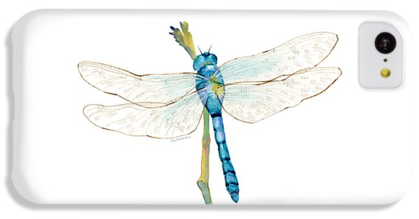 Blue Dragonfly IPhone 5c Case