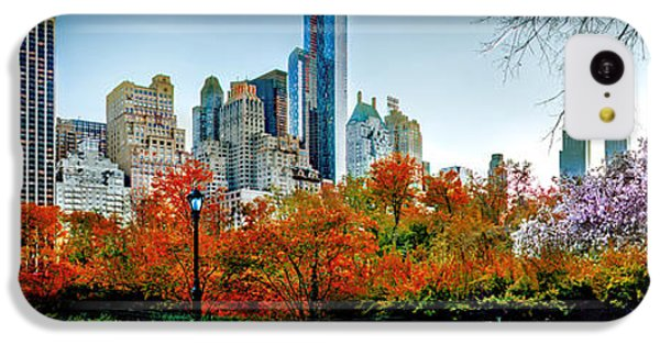 New York City Skyline iPhone 5c Case - Changing Of The Seasons by Az Jackson