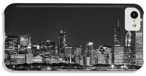 Chicago Skyline At Night Black And White Panoramic IPhone 5c Case