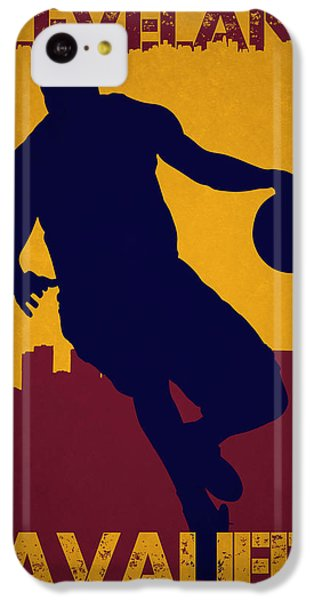 Lebron James iPhone 5c Case - Cleveland Cavaliers Lebron James by Joe Hamilton