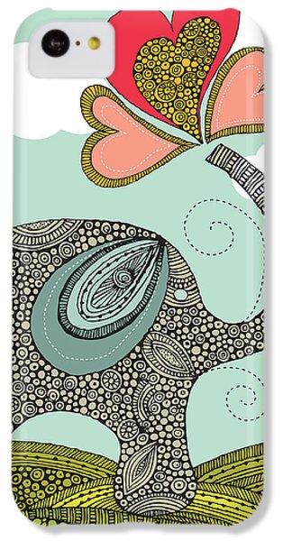 Cute Elephant IPhone 5c Case by Valentina Ramos