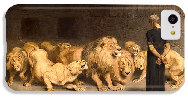 Dungeon iPhone 5c Case - Daniel In The Lions' Den by Briton Riviere