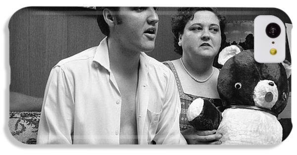 Elvis Presley And His Mother Gladys 1956 IPhone 5c Case by The Harrington Collection