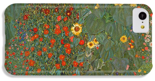 Sunflower iPhone 5c Case - Farm Garden With Sunflowers by Gustav Klimt