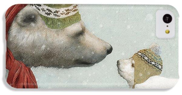 Polar Bear iPhone 5c Case - First Winter by Eric Fan