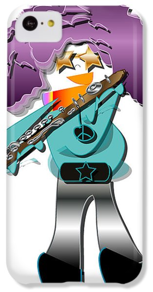 IPhone 5c Case featuring the digital art Flute Player by Marvin Blaine