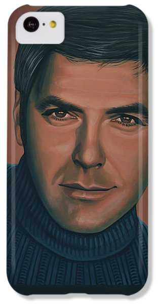Robin iPhone 5c Case - George Clooney Painting by Paul Meijering