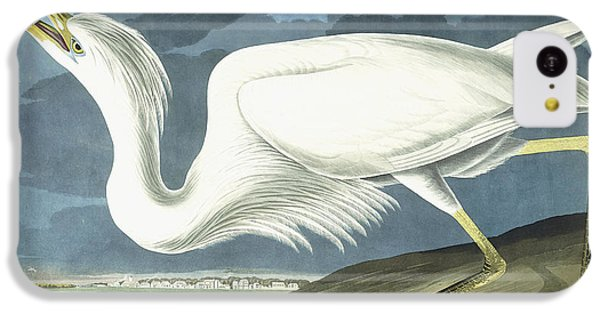 Great White Heron IPhone 5c Case by John James Audubon