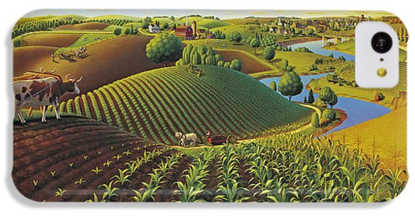 Rural Scenes iPhone 5c Case - Harvest Panorama  by Robin Moline