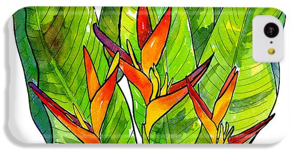 Heliconia IPhone 5c Case by Diane Thornton