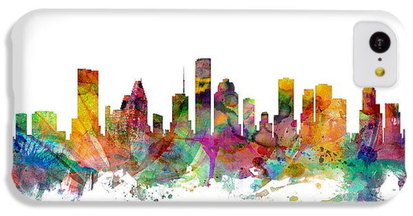 Houston Texas Skyline IPhone 5c Case by Michael Tompsett