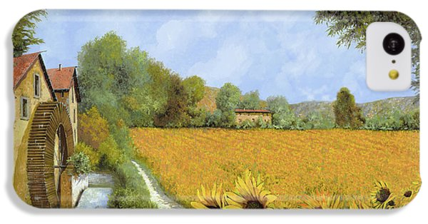 Sunflower iPhone 5c Case - Il Mulino E I Girasoli by Guido Borelli