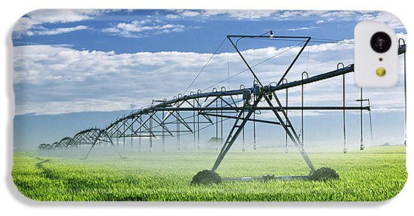 Rural Scenes iPhone 5c Case - Irrigation Equipment On Farm Field by Elena Elisseeva