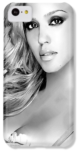 #1 Jessica Alba IPhone 5c Case by Alan Armstrong