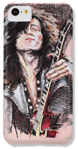 Jimmy Page IPhone 5c Case by Melanie D