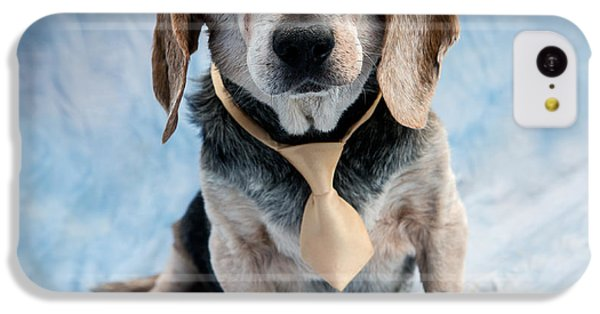 Kippy Beagle Senior And Best Dog Ever IPhone 5c Case by Iris Richardson