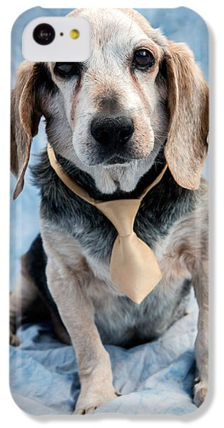 Dog iPhone 5c Case - Kippy Beagle Senior by Iris Richardson