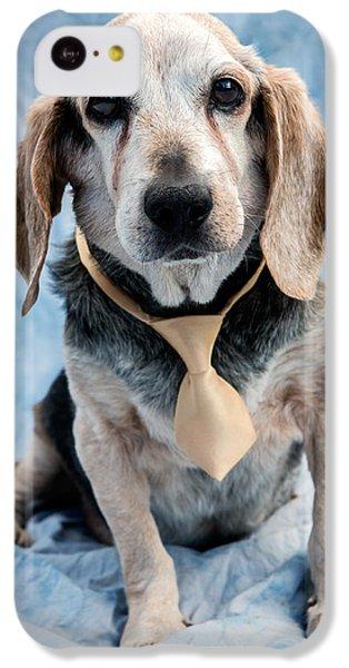 Dog iPhone 5c Case - Kippy Beagle Senior by Iris Richardson