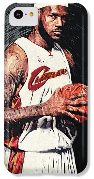 Lebron James iPhone 5c Case - Lebron James by Taylan Apukovska