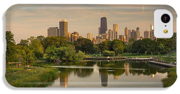 City Sunset iPhone 5c Case - Lincoln Park Lagoon Chicago by Steve Gadomski