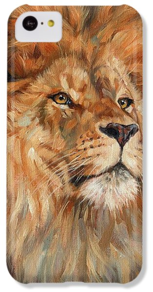 Lion IPhone 5c Case by David Stribbling
