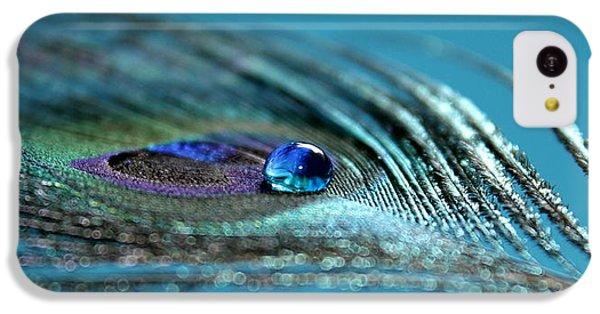 Peacock iPhone 5c Case - Liquid Blue by Krissy Katsimbras