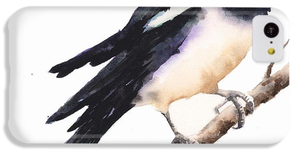 Magpies iPhone 5c Case - Magpie Painting by Alison Fennell