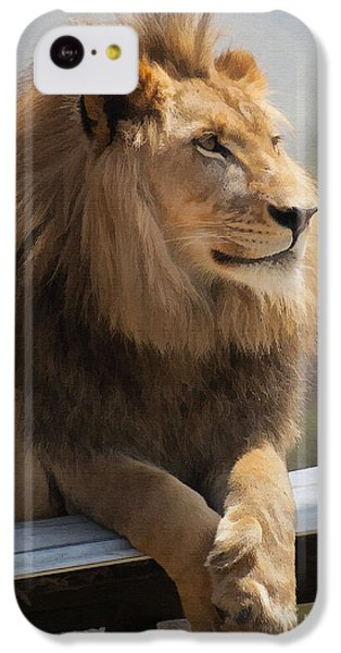Majestic Lion IPhone 5c Case by Sharon Foster