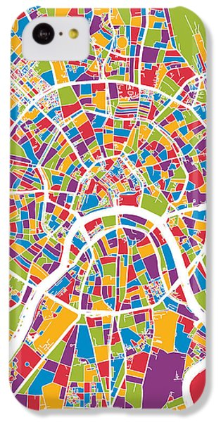 Moscow City Street Map IPhone 5c Case